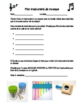 La musique/ French Immersion Music Activities and Vocabulary Flashcards