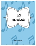 La musique/ French Immersion Music Activities and Vocabula