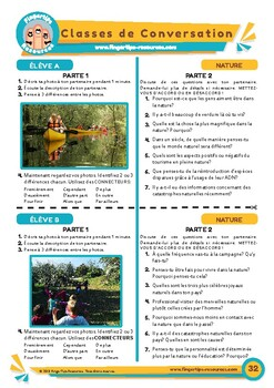 La nature - French Speaking Activity