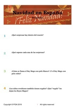 Cultural activities:La navidad - Christmas in Spain (Spanish version)