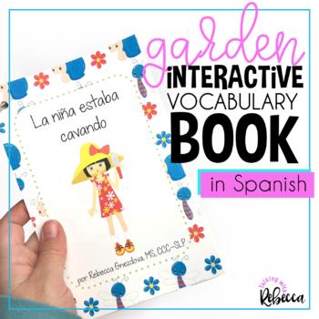 Spring Garden Interactive Book for Spanish Speech Therapy