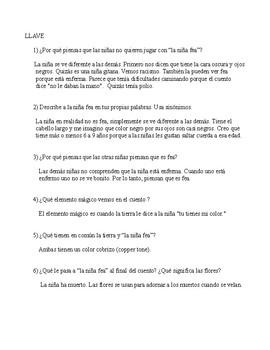 La niña fea por Ana María Matute (comprensión de lectura)