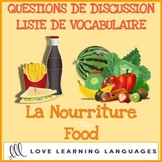 Advanced French conversation questions - La nourriture