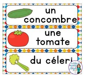 La nourriture: French Food Themed Vocabulary Activities