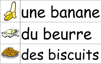 La nourriture - French Vocabulary Word Wall of Food