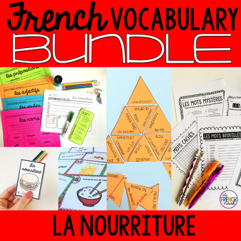 La nourriture French food vocabulary BUNDLE