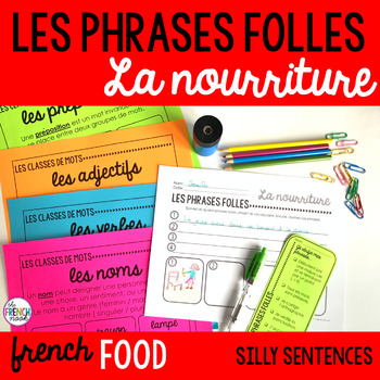 La nourriture French food vocabulary Les phrases folles