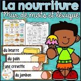 La nourriture - Mur de mots et lexique (60 mots) - French foods word wall