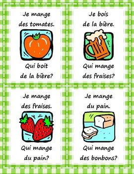 La nourriture - Qui mange/boit...? - Question Chain Game