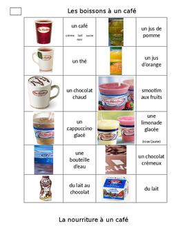 La nourriture à un café