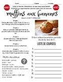 La nourriture & les articles partatifs - Reading Comp : FSL 8