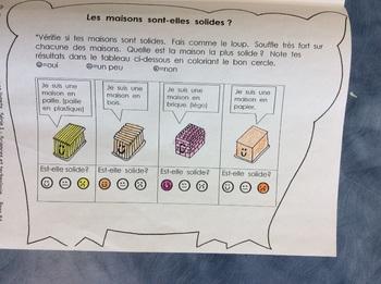 La nouvelle maison du loup- FRENCH- Grade 1 and 2- Structures