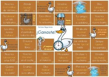 La oca de los verbos - Spanish game to practise verb conjugation