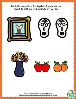 La ofrenda de Pepita A Days of the Dead Minibook and Theme Pack in Spanish