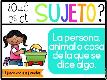 La oracion (Parts of a sentence and types of sentences in Spanish)