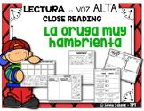 """La oruga muy hambrienta - """"Close Reading"""" con  lectura en voz alta"""