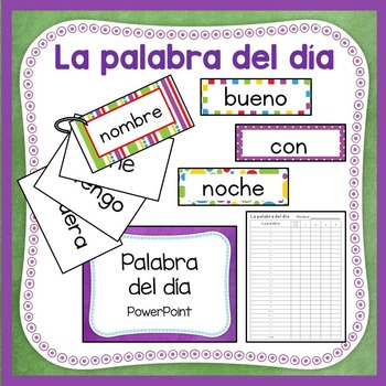 La palabra del día - Sight Word of the Day in Spanish