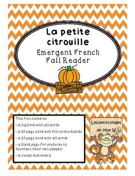La petite citrouille - French Fall Emergent Reader