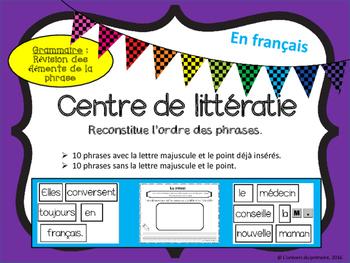 La phrase - En français -  Nouvelle grammaire