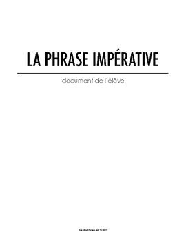 La phrase impérative - Document de travail