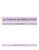 La phrase interrogative - Document de travail