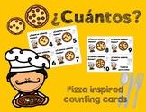 La pizza y los números - Tarjetas para contar (numbers only)