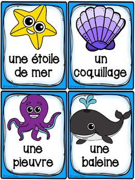 La plage - Cartes de vocabulaire - French Beach