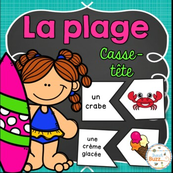 La plage - French Beach - 48 puzzles