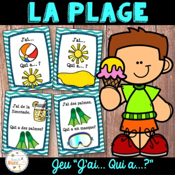 "La plage - French Beach - Jeu ""j'ai... qui a...?"""