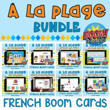 La plage:  French Beach themed Digital Task Cards - BOOM CARDS