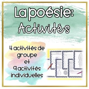 La poésie - Les activités