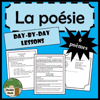 La poésie – Poetry Project – Day-By-Day lessons in French