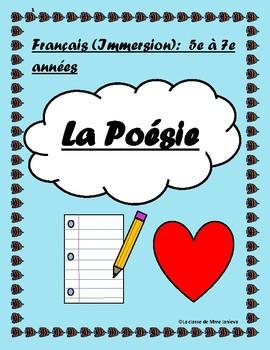 La poésie: une introduction (5 à 7e années); An introduction to poetry