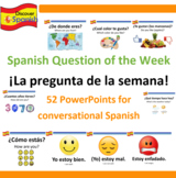 ¡La Pregunta De La Semana! 52 PPTs for beginner Spanish Co