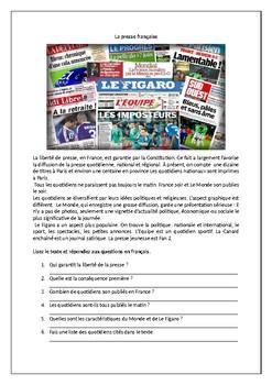 La presse française / French press / Newspapers / Magazines