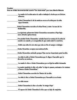La rama seca por Ana María Matute/ review handout