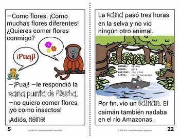 La rana de la boca grande / Amazon animals story + lessons