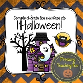 Halloween Math: Printing Numbers 1-10 in French, Cute poem and student booklets!