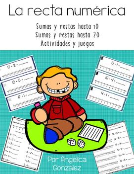 La recta numérica (Number line activities SPANISH)