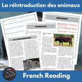 La réintroduction des animaux - reading for int/adv French