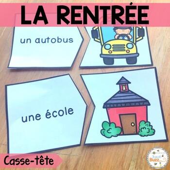 La rentrée - 46 puzzles - French back to school