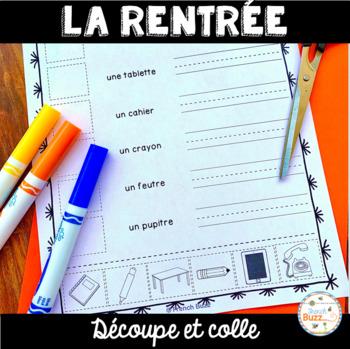La rentrée scolaire - Découpe et colle - French back to school