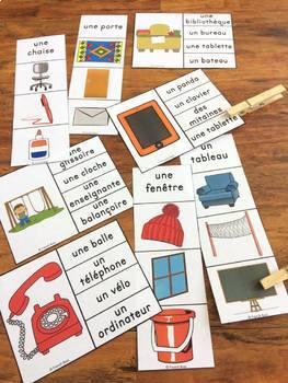 La rentrée scolaire - Ensemble 2 jeux d'association - French back to school