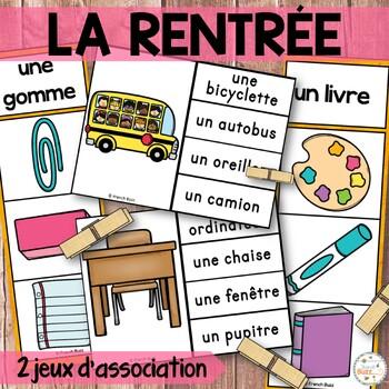 La rentrée - Ensemble 2 jeux d'association - French back t