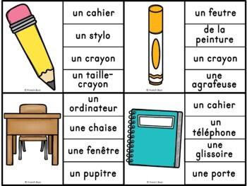 La rentrée - Jeu d'association #1 - French back to school