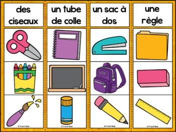 La rentrée - Jeu d'association #2 - French back to school