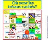 Où sont les trésors cachés? (an ER verb practice game) FRENCH