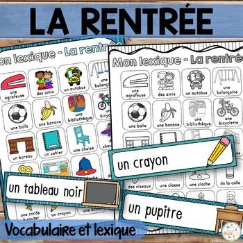 La rentrée - Mur de mots (45 mots) et lexique - French bac