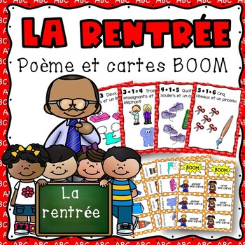 La rentree, un poeme: emergent reader, full size book, student booklets and more