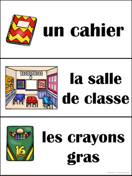 La rentrée/Back to school Ontario Core French/French Immersion Banner for Class